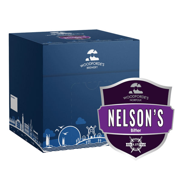 Nelson's 18 pint Beer Box   Woodforde's Brewery