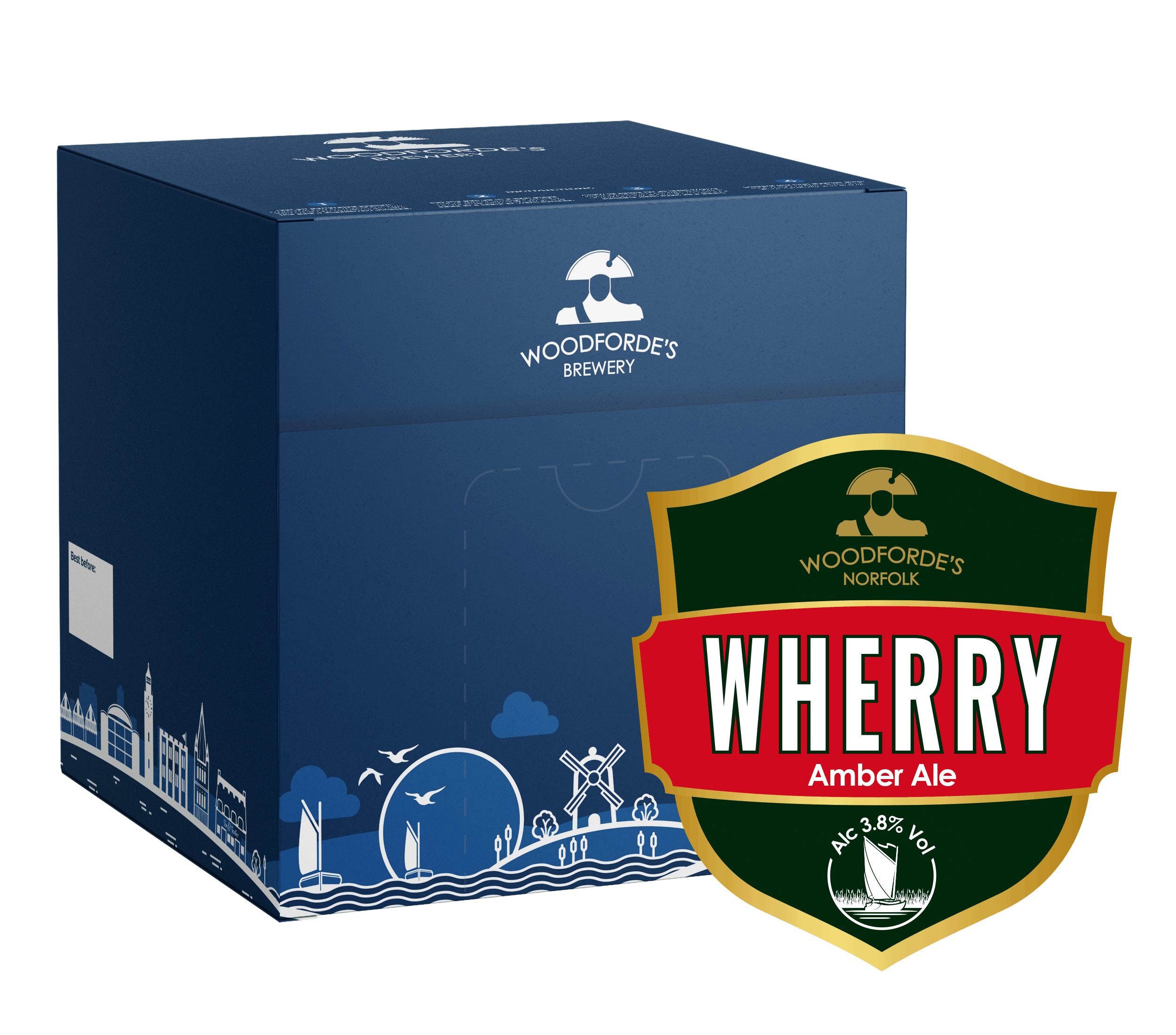 Wherry 18 pint Beer Box | Woodforde's Brewery