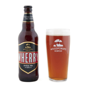 Wherry bottle & Pint Glass   Woodforde's Brewery