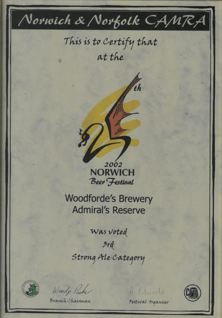 Woodforde's Awards on Woodfordes.com