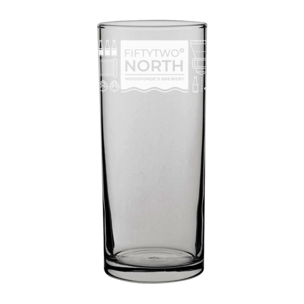 FIFTYTWO NORTH Pint Glass | Woodforde's Brewery