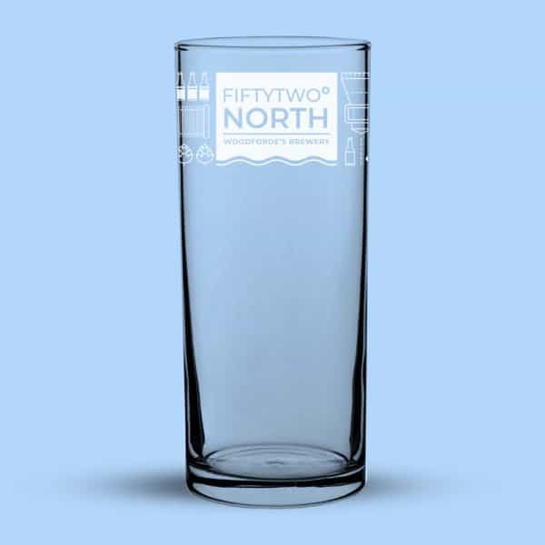 FIFTYTWO NORTH Pint Glass on Woodfordes.com