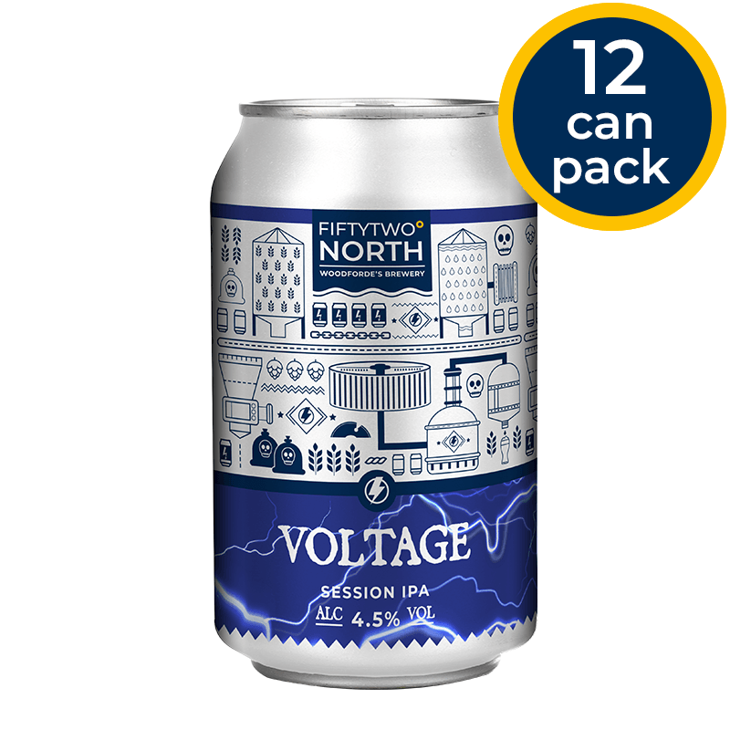 Voltage cans | Woodforde's Brewery