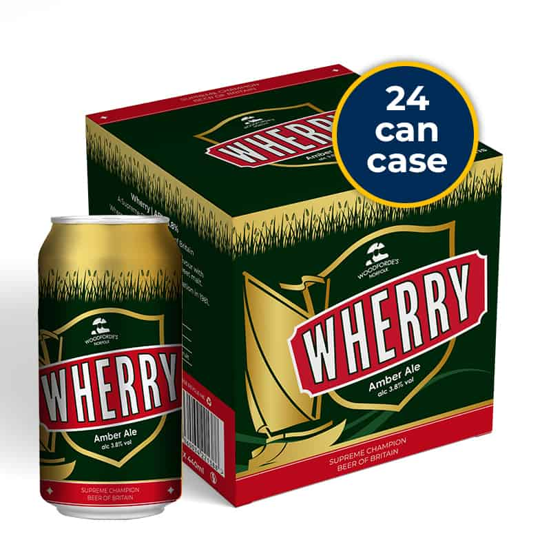 Wherry in a can in Woodfordes Online Shop
