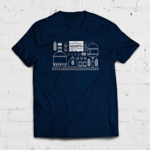 52 Degree North Unisex T-Shirt 2020 on Woodfordes.com