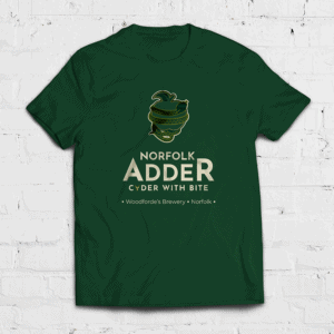 Cyder Adder Unisex T-Shirt 2020 on Woodfordes.com