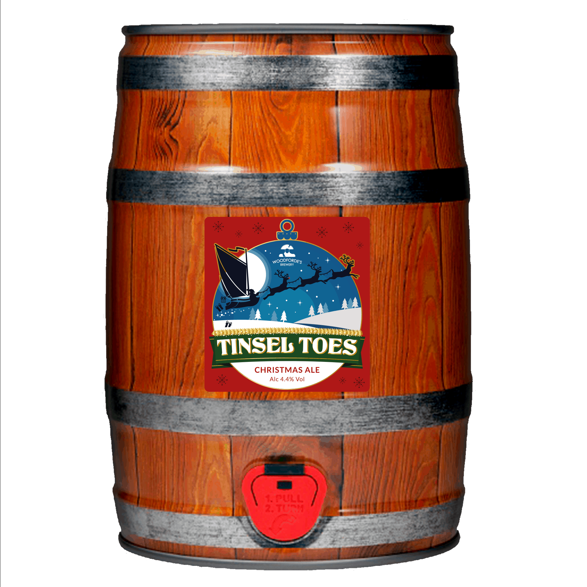 Tinsel Toes Mini Cask by Woodforde's Brewery