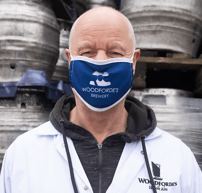 Chris Face Mask - Woodforde's Brewery