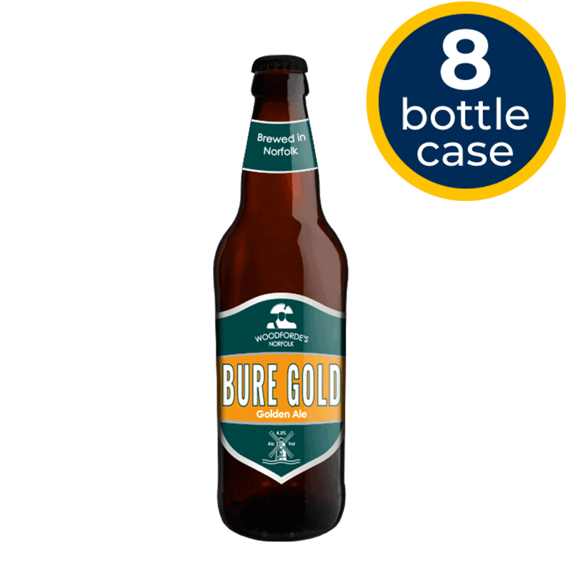 Bure Gold 8 Bottle Case | Woodforde's Brewery