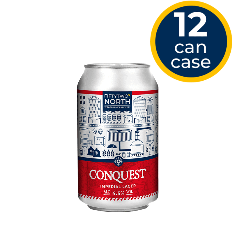 Conquest 12 Can Case | Woodforde's Brewery