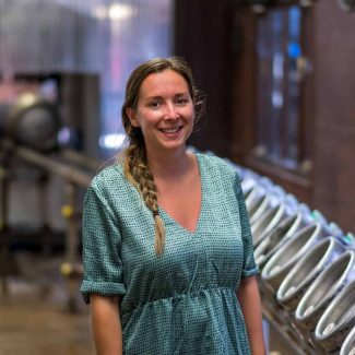 Emma King at Woodforde's Brewery